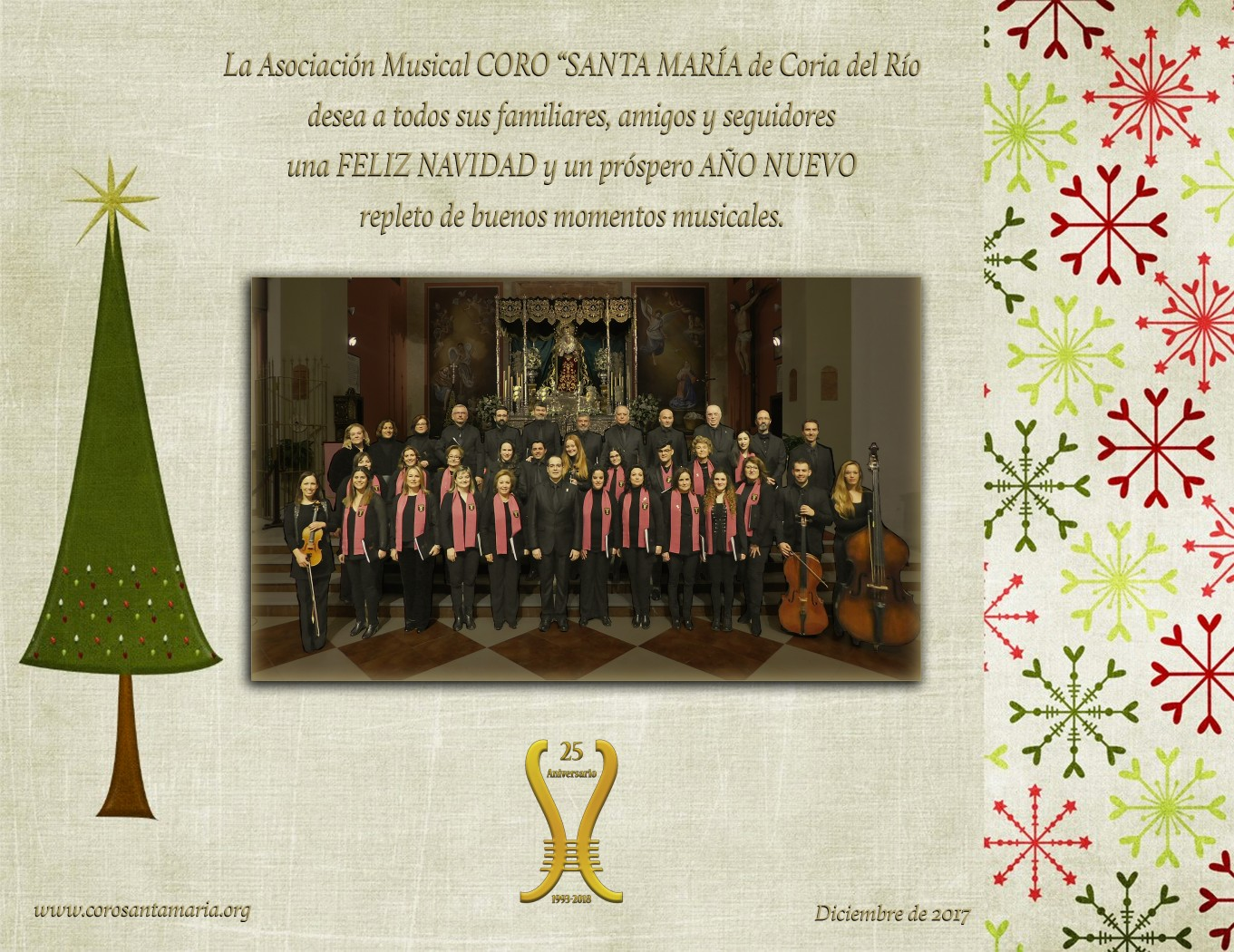 Coro santa mar a asociaci n musical felices fiestas a for Santa maria jewelry company